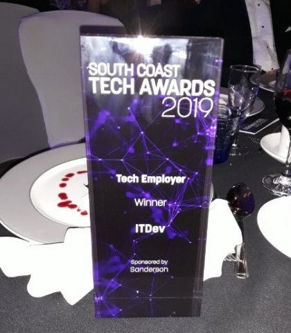 South Coast Tech Awards Trophy